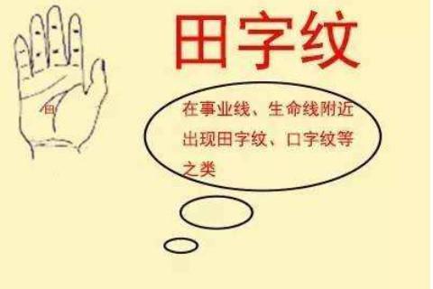 手掌有田字纹的手相分析