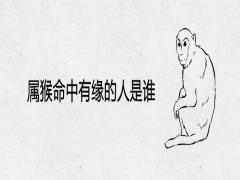 属猴命中有缘的人是谁