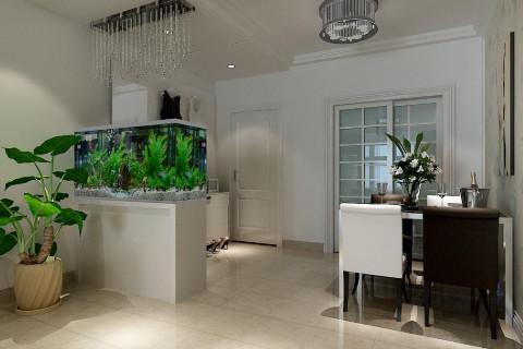 客厅鱼缸怎么摆放旺财?