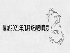 属龙2021年几月能遇到真爱