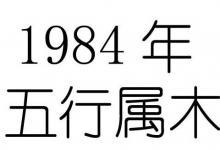 1984年出生五行属什么?