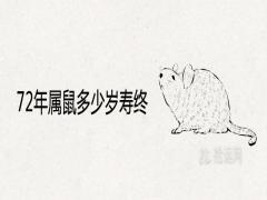 72年属鼠多少岁寿终后半生健康运势如何