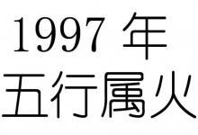 1997年11月属牛人五行属什么?
