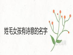 姓毛女孩有诗意的名字精选